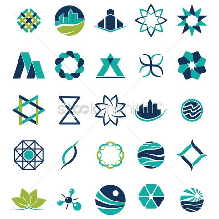 Logo : Collection of abstract icons