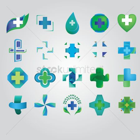 Cross : Collection of abstract icons