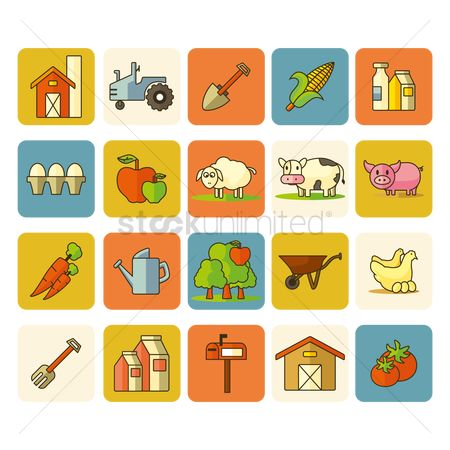 Agriculture : Collection of agricultural items