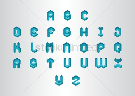 Geometrics : Collection of alphabet