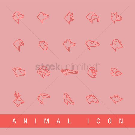 Lightweight : Collection of animal icons