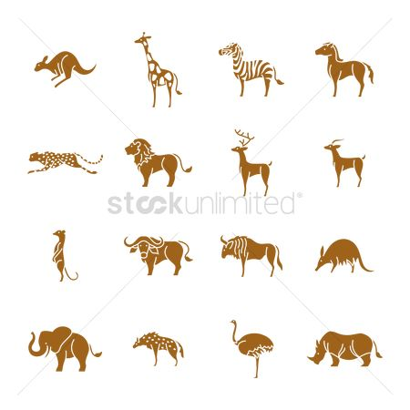 Antelopes : Collection of animal icons