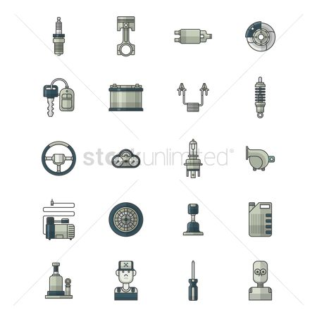 Jack : Collection of auto parts and tools
