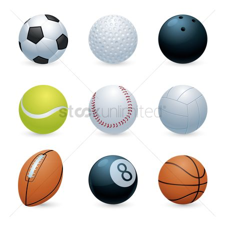 Footballs : Collection of balls