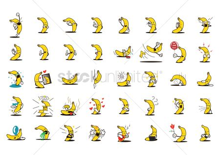 Ideas : Collection of banana characters