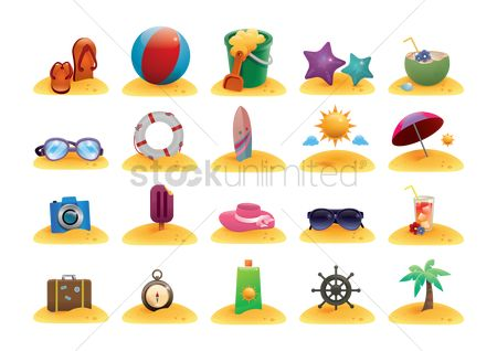 Starfishes : Collection of beach related objects
