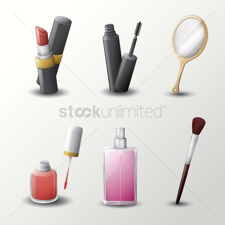 Brushes : Collection of beauty products