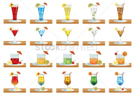 Straw : Collection of beverage glasses