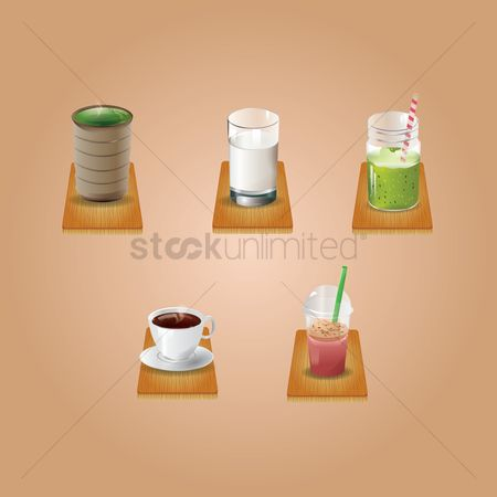 Take away cup : Collection of beverages