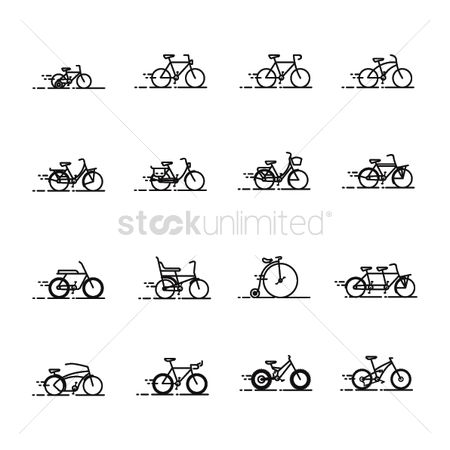 Old fashioned : Collection of bicycles
