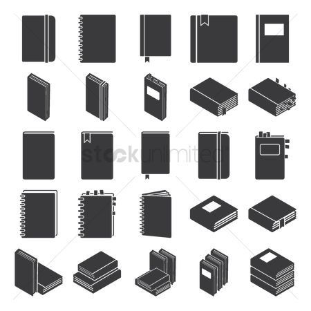 Planner : Collection of book icons