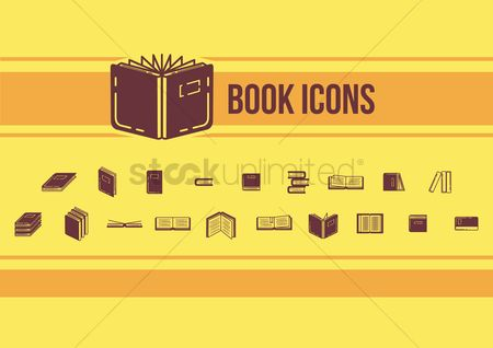 School : Collection of books icons