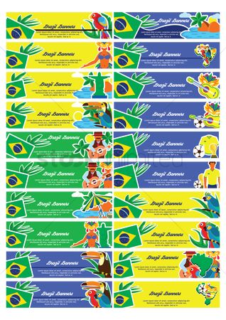 Toco toucan : Collection of brazil banners