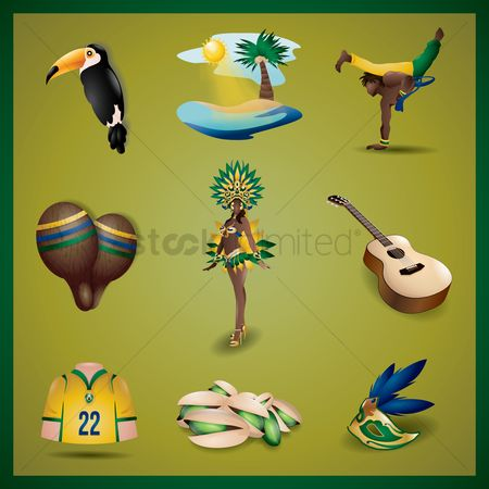 Jersey : Collection of brazil icons