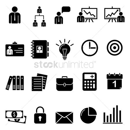 Briefcase : Collection of business icons