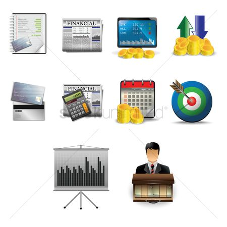 Dairies : Collection of business icons