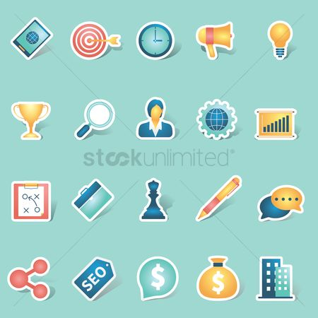 Office  building : Collection of business icons