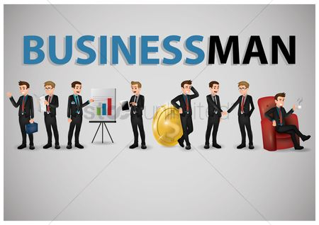 Success : Collection of business people