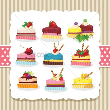 Slices : Collection of cake