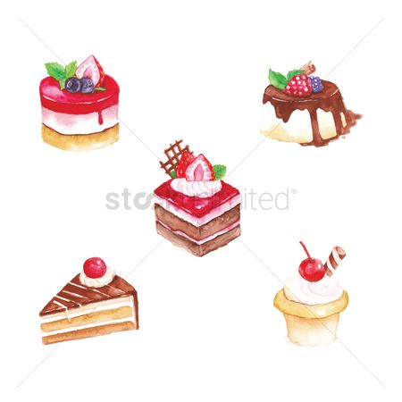 Confectionery : Collection of cakes