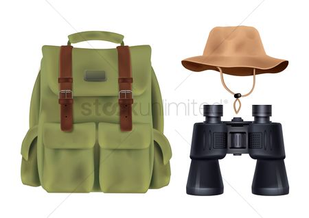 Accessories : Collection of camping equipment