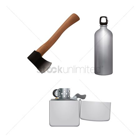 Lighter : Collection of camping equipment