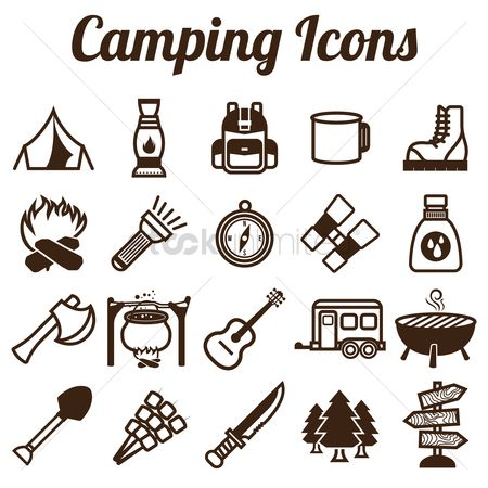 Footwears : Collection of camping icons