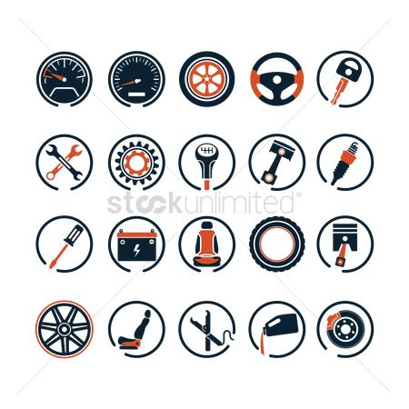 Car speedometer : Collection of car icons