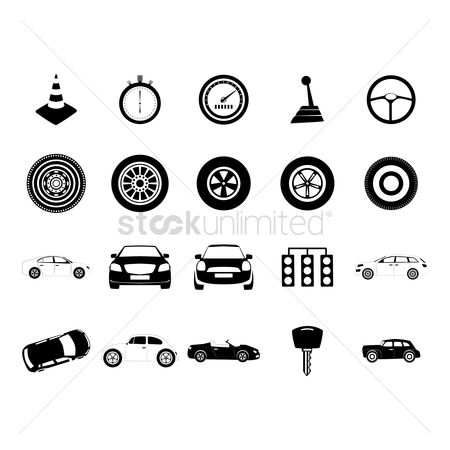 Car speedometer : Collection of cars and racing icons