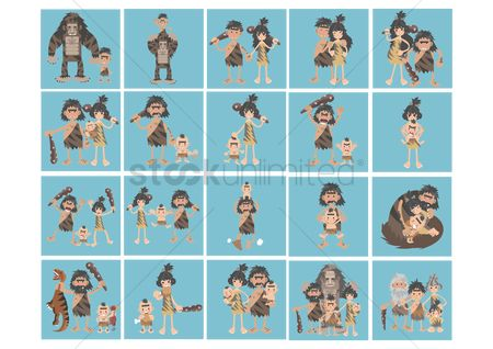 Kids : Collection of caveman generation