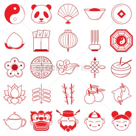 Lightweight : Collection of chinese icons