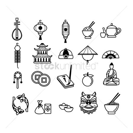 Teapot : Collection of chinese icons