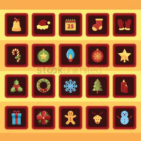 Jingle bells : Collection of christmas button