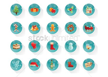Sock : Collection of christmas buttons