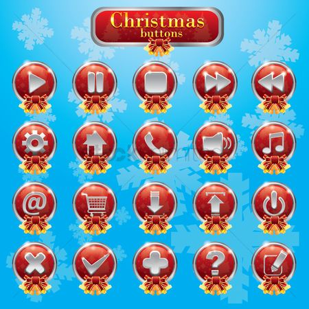 Power button : Collection of christmas buttons