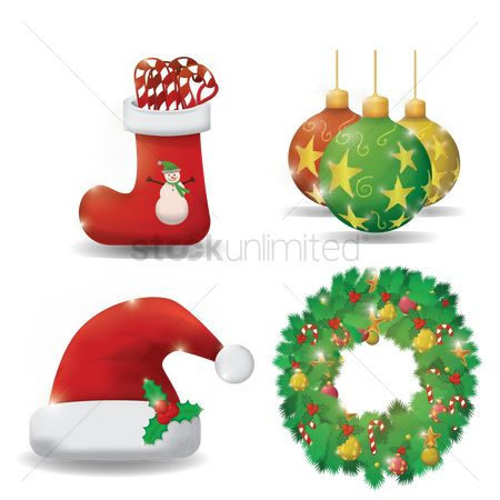 Santa : Collection of christmas items