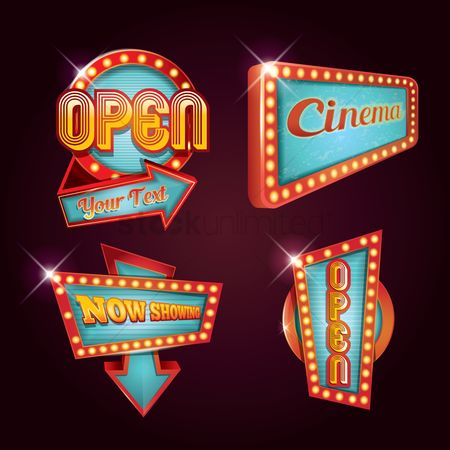 Retro : Collection of cinema signage