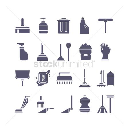 Cleaners : Collection of cleaning icons
