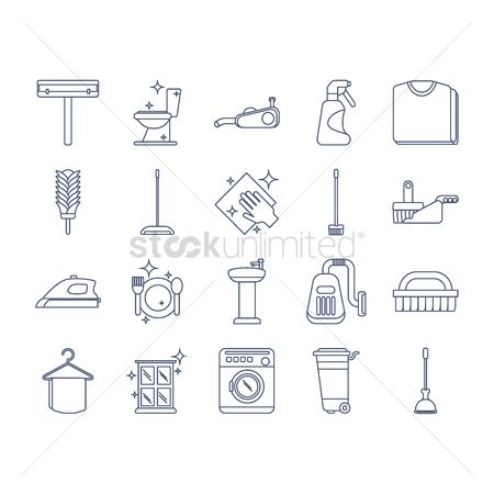 Duster : Collection of cleaning icons