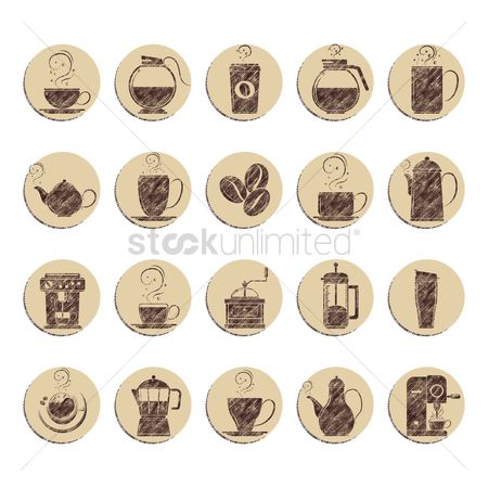 Makers : Collection of coffee icons