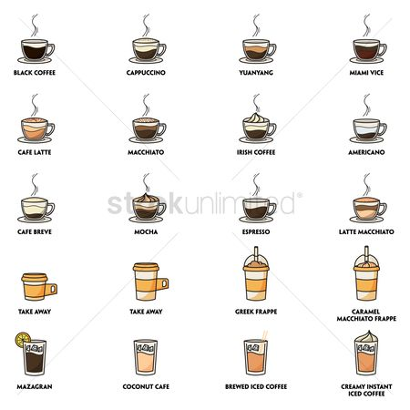 Drinking : Collection of coffee