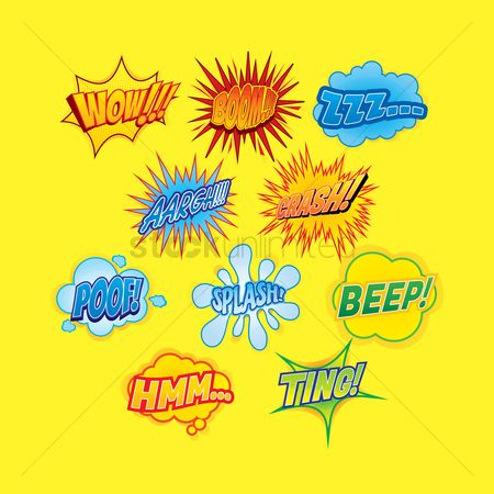 Interact : Collection of comic wordings