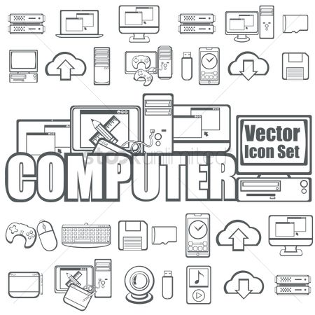 Electronic : Collection of computer icons