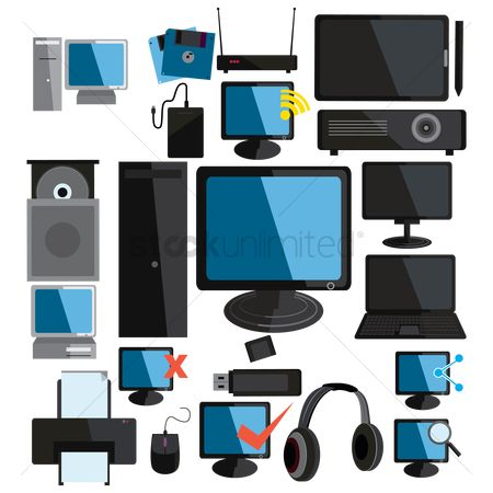 Hardwares : Collection of computer icons