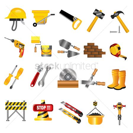 Cones : Collection of construction icons