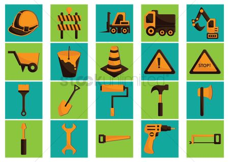 Drilling : Collection of construction icons