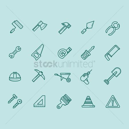 Trolley : Collection of construction icons