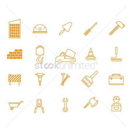 Builder : Collection of construction icons