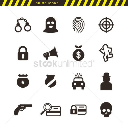 Authority : Collection of crime icons