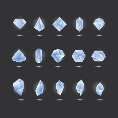 Diamonds : Collection of crystals